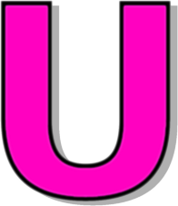 capitol U pink - /signs_symbol/alphabets_numbers/outlined ...