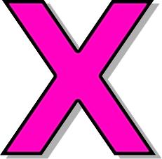 pink x