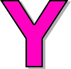 Y Alphabet Letter capitol Y pink - /signs_symbol/alphabets_numbers/outlined_alphabet ...