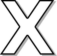 capitol x white   signs symbol  alphabets numbers  outlined alphabet  white capitol  capitol x letter a clip art images letter a clipart coloring