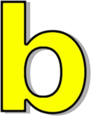 lowercase b yellow   signs symbol  alphabets numbers clipart letter writing clipart letter o