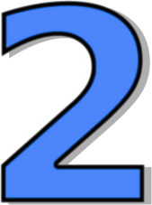 number 2 blue - /signs_symbol/alphabets_numbers/outlined ...