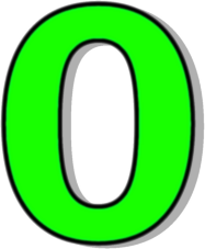 Number 0 Green Signs Symbol Alphabets Numbers Outlined