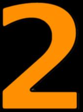 number 2 orange - /signs_symbol/alphabets_numbers/outlined ...
