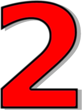 number 2 red - /signs_symbol/alphabets_numbers/outlined ...