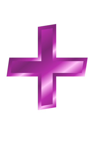 purple metal addition sign signssymbolalphabets