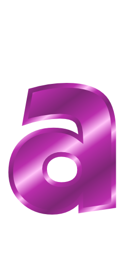 purple metal letter a  signs symbol  alphabets numbers