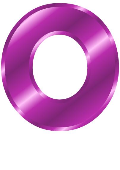 purple metal letter ca...