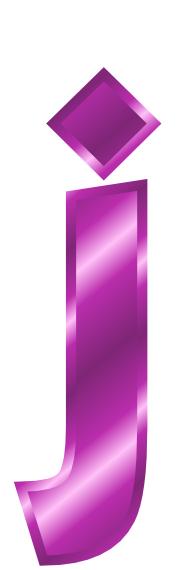 purple metal letter j - /signs_symbol/alphabets_numbers ...