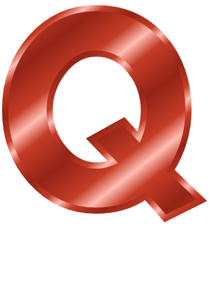 red metal letter capitol q   signs symbol  alphabets letters clip art black and white letters clip art black and white