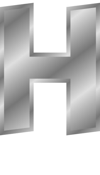 Letter H Clipart Clipart Vector Design