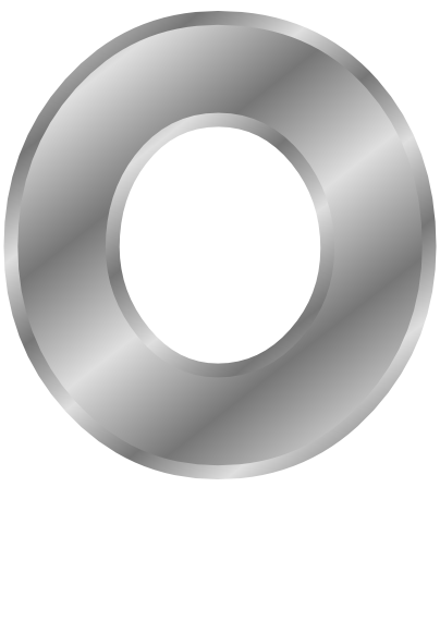 silver letter capitol o  signs symbol  alphabets numbers