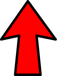 arrow outline red up - /signs_symbol/arrows/arrows_color ...