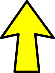 Arrow Outline Yellow Up Signs Symbol Arrows Arrows