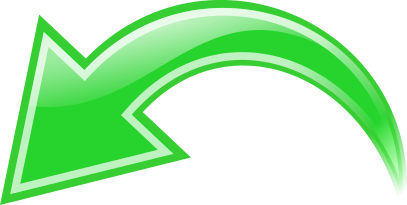 Arrow Curved Green Left
