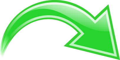 Arrow Curved Green Right