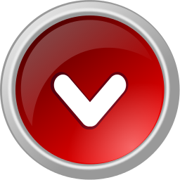Arrow Button Metal Red Down Signs Symbol Button Metal