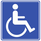 photograph about Printable Handicap Sign titled Signs or symptoms Brand / HANDICAP - General public Area clip artwork at