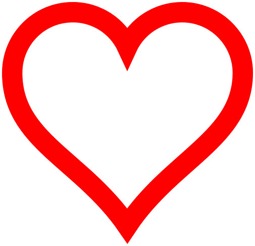 Heart icon red hollow - /signs_symbol/love/hearts/Heart ...