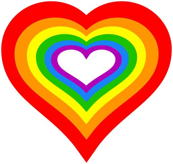 Rainbow Love Heart Signssymbolloveheartsrainbowloveheart