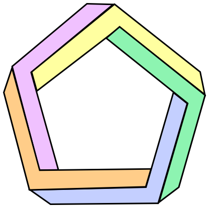 Number Names Worksheets pictures of a pentagon : Penrose pentagon - /signs_symbol/optical_illusions ...
