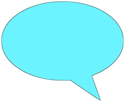 comment bubble solid cyan left - /signs_symbol/speech