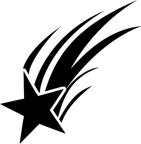 star shooting - /signs_symbol/stars/stars_BW/star_shooting.png.html