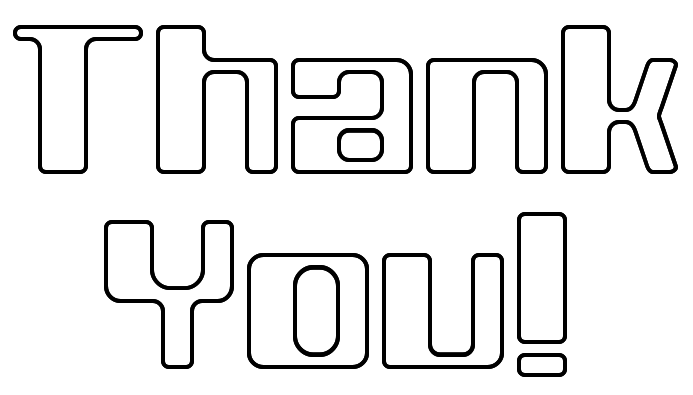 thank you note outline signs symbol words thank you