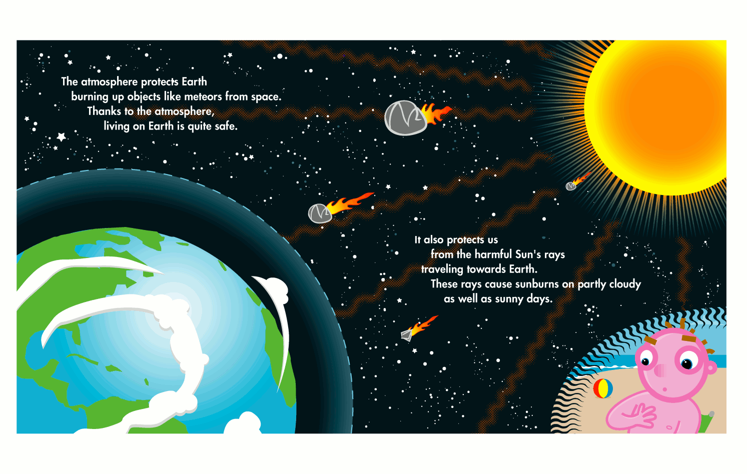 atmosphere protects   space  illustrations  kids  atmosphere clipart of earth crust clipart of earthquake