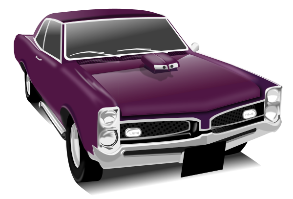 Purple Muscle Car Transportation Car Classic Cars
