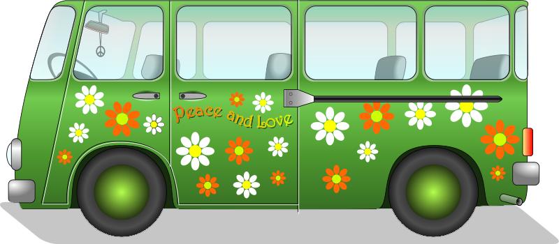 Hippie Van Transportation Car Van Hippie Van Png Html