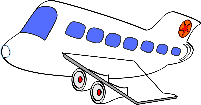 plane commercial 1   travel  air travel  planes  plane tractor clip art black and white tractor clip art images