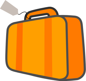 bag w ticket orange   travel  luggage  luggage color  bag w purse clip art handbag purses clipart free