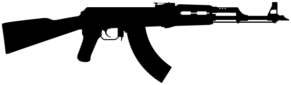 ak 47 rifle silhouette weapons guns ak47 ak 47 rifle silhouette