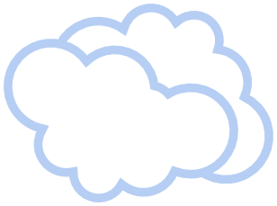 Clouds Blue Outline Available Formats To Download Pngtransparent