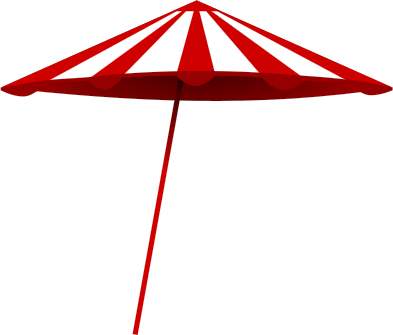 Red White Beach Umbrella Weather