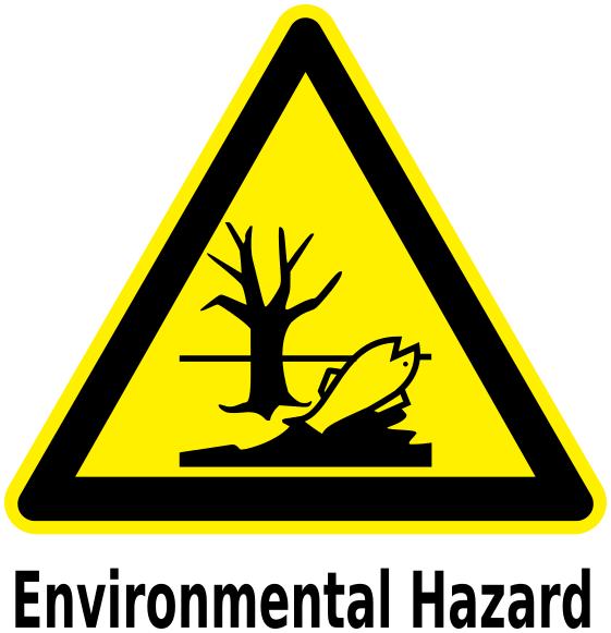 Environmental Hazard Label Workingsignshazardsigntriangles