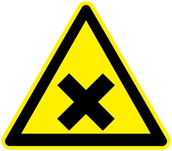 Irritant Working Signs Hazard Sign Triangles Irritant
