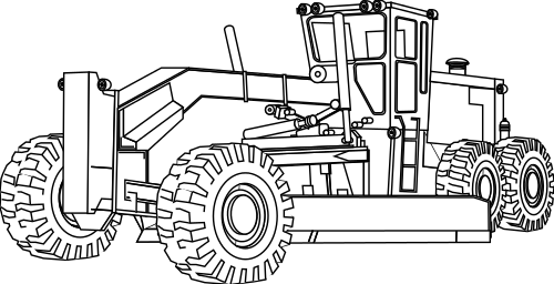 farm equipment coloring pages   grader outline - /working/vehicles/grader/grader_outline ...