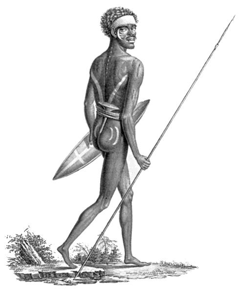 aboriginal australian male carrying a spear   world clip art world globes clip art world map