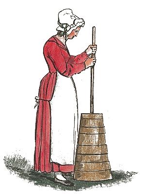 churning butter worldhistoryoldworkchurningbutter