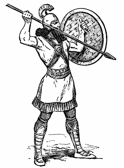 Assyrian Spearman World History Warfare Soldiers